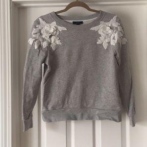 J Crew Flower Shoulder Sweater